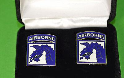 18th Airborne Army Cuff Links in Presentation Gift Box XVIII Corps cufflinks