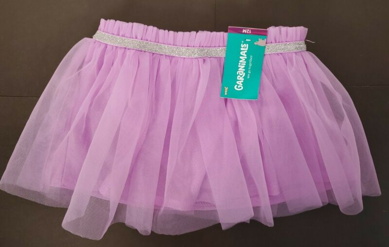 Lavender Tutu Skirt w/Glitter Halloween Costume Dress Up Photos Garanimals NEW