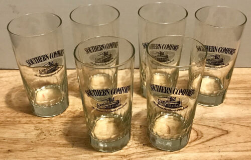 SOUTHERN COMFORT Set of 6 Glass/Glasses THE GRAND OLD DRINK OF THE SOUTH NICE!!