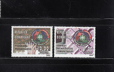 Dominican Republic 2007 Technology Sc 1427-1428  mint never hinged