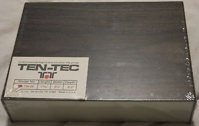 Vintage Ten-tec Aluminum Project Box Enclosure Case Electronic Diy - Large