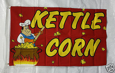 Kettle Corn Flag 3x5 Banner Store Concession Business Advert Free Shipping