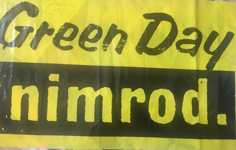 Green Day Nimrod Record Store Banner Poster Rare Promo