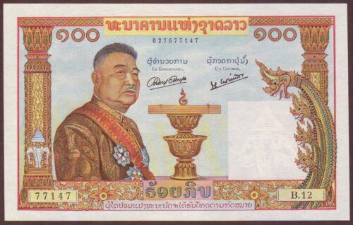 LAO / LAOS  100 Kip  ND (1957)   Gem UNC