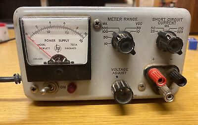Vintage Hp 721a Adjustable Power Supply Hewlett Packard Works