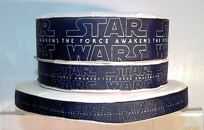 Star Wars Printed Grosgrain Ribbon 16/22/38mm wide 1, 2, 5m The Force Awakens