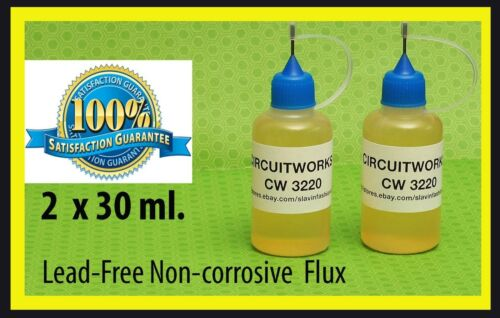 CIRCUITWORKS CW3220  NO CLEAN   SOLDERING LIQUID FLUX LEAD FREE /  USA seller