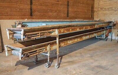 Haines Potato Produce Stacking Conveyor Belt 24 Long 16 Wide 44 Height