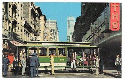 Cable Car San Francisco California Vintage Postcard Nov17