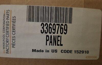 WP3369769 for Whirlpool Dishwasher Door Panel Insert