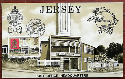 Jersey Post Office Headquarters. Post Card with 40p stamp. 1979