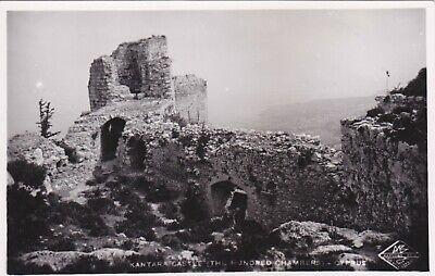CYPRUS POSTCARD KANTARA CASTLE THE HUNDRED CHAMBERS FAMAGUSTA  MANGOIAN 1930 S