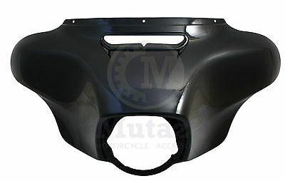 Glossy Vivid Black 2014 15 16 & Up Outer Fairing Batwing for Harley Touring