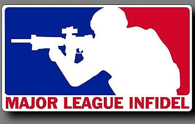 "Major League Infidel 6"" Car Truck window decal sticker Army Marines Military ()"