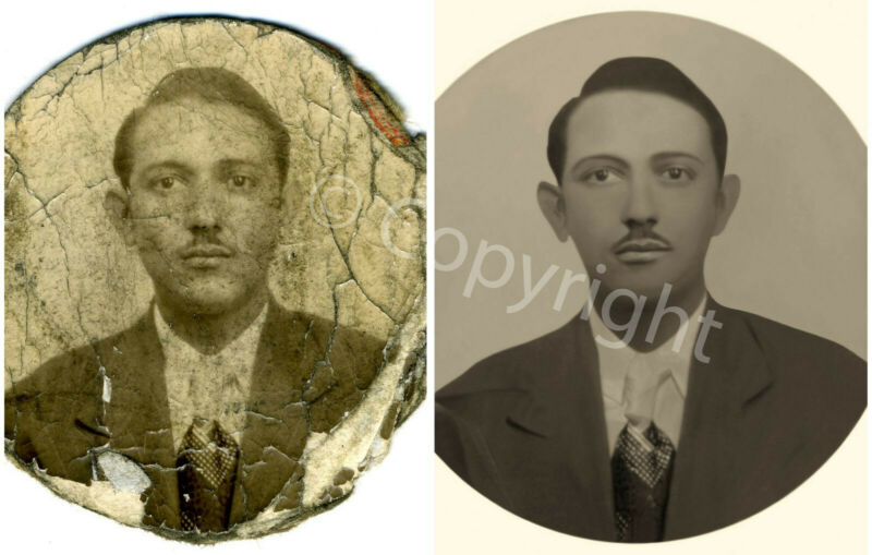 Photo Restoration Level 1, old photo fix, photograph repair digital