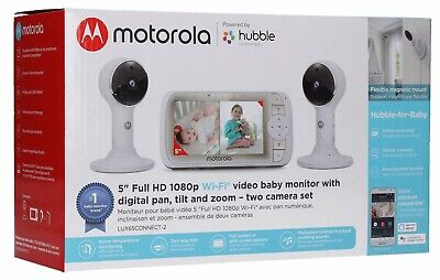 "Motorola 5"" Video Baby Monitor with 2 Camera PTZ"