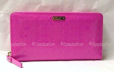 Kate Spade PWRU3654 Fancy That Lacey Zip Around Wallet BOUGAINVILLEA Pink NWT