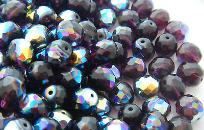 1200 PCS WHOLESALE 6mm CZECH GLASS FIRE POLISHED BEADS - DARK AMETHYST AB