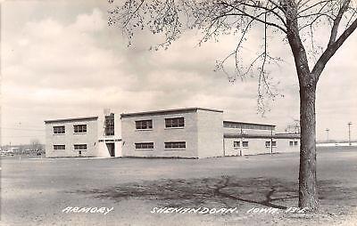 Baseball Fence Guard (Shenandoah Iowa~National Guard Armory~Baseball Field Fence~Lights~1950s)