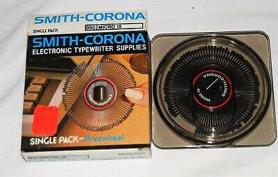 Smith-corona Electronic Typewriter Printwheel Micro 15