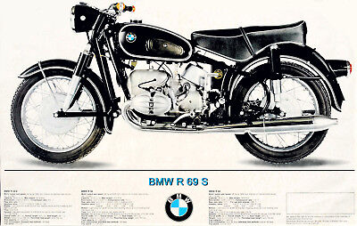 1967 BMW R-69 S Ad poster 12 x 19 Giclee iris print, used for sale  Shipping to Canada