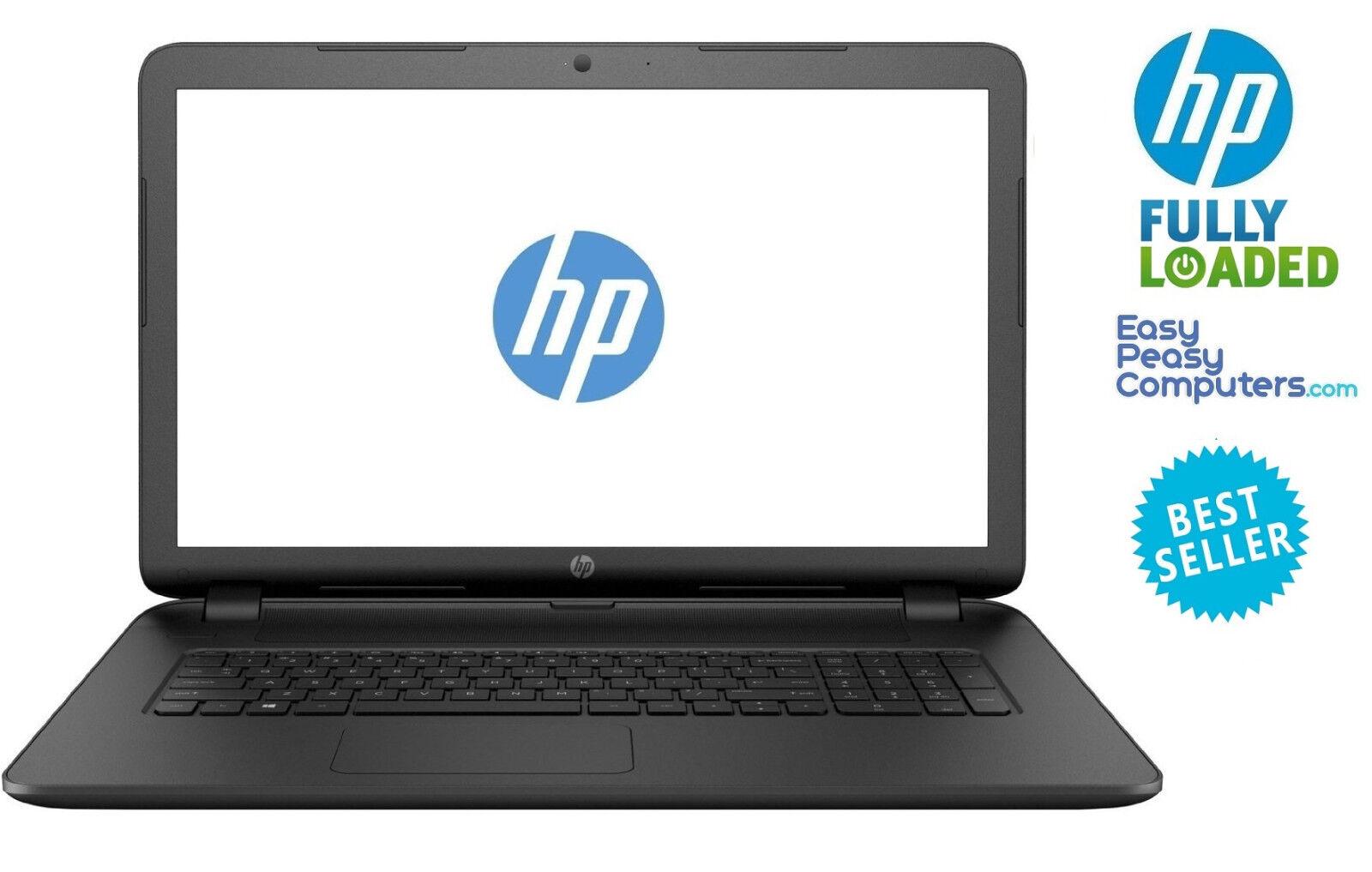 "HP Laptop 17.3"" Windows 10 8GB 1TB Bluetooth Webcam DVD+RW W"
