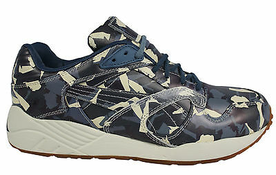 Puma XS 850 X BWGH Camo Mens Lace Up Trainers Blue Leather 357384 01 P