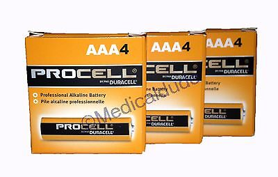 NEW DURACELL PROCELL AAA ALKALINE BATTERIES 12 (3 PACKS OF 4) EXP 5+ YRS