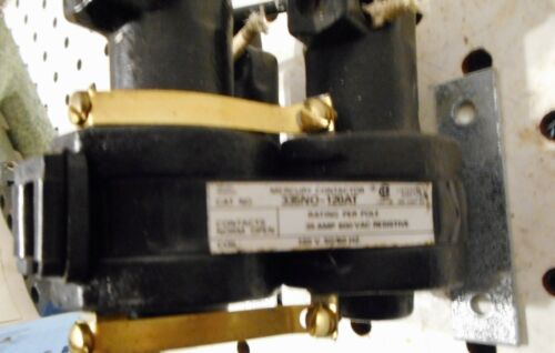 USED MDI 335NO-120AT 35AMP 600 V 3 PHASE MERCURY CONTACTOR