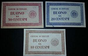 offerta lotto 3 buoni 10/20/50 cent trieste come foto - Italia - offerta lotto 3 buoni 10/20/50 cent trieste come foto - Italia