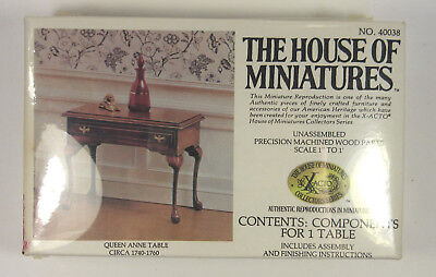 House of Miniatures Queen Anne Table Kit 1:12 Dollhouse Furniture X-acto Series, used for sale  Asheboro