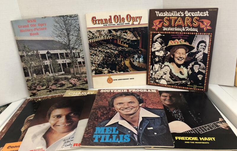 vtg LOT: Grand Ole Opry Nashville Opryland 70's ++ books
