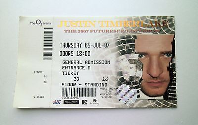 JUSTIN TIMBERLAKE MEMORABILIA - Ticket Stub(s) The O2 Arena London 05/07/07