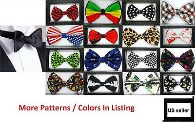 Men Fashion Pre-tied Bow Tie Wedding Party Prom Tuxedo Adjustable Bowtie Necktie ()