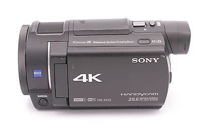 Sony Handycam FDR-AX33 Wi-Fi 4K Ultra HD Video Camera Camcorder - Black for sale  Shipping to India