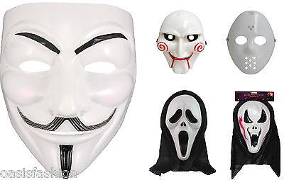 Halloween Purge Vendetta Saw Style Horror Clown Ghost Fancy Dress Scary Masks  - Saw Halloween Mask