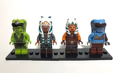 4 Custom Star Wars Minifigures Ahsoka Tano Aayla Secura Oola Lot Building Blocks