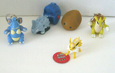 Vintage Pokemon Toys 1999 Keychain Squirters Figures Assorted Lot of 5! Set #1