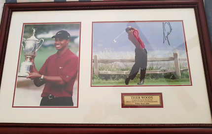 Tiger Woods US Open signed with C.O.A