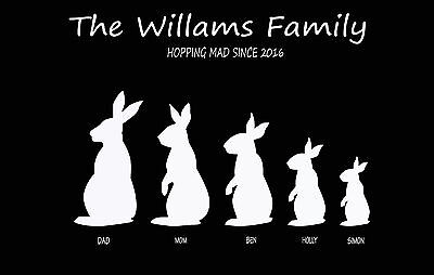 BUNNY RABBIT PRINT - BUILD YOUR OWN FAMILY TREE GIFT PIC  (Bunny Pic)