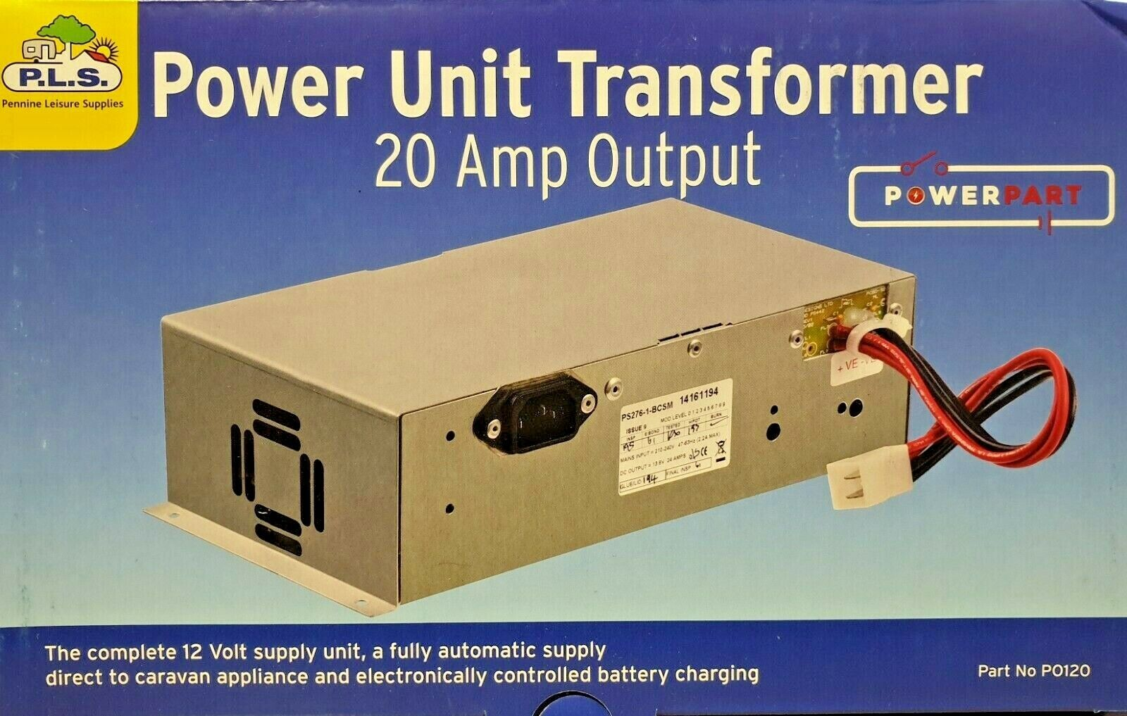 Details about Caravan Mains 20 Amp Power Supply & Battery Charger -  PS276-1-BCSM (PO120)