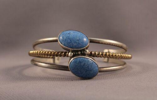 Navajo Sterling and Blue Stone Bracelet