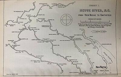 Hickory North Carolina c1907 map 18x24
