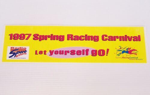 VINTAGE 1997 SPRING RACING CARNIVAL MELBOURNE SPORT 927 RADIO STICKER SOUVENIR