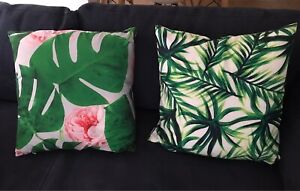 Pair of Decorative Cushions Palm Tree Print Bexley North Rockdale Area Preview