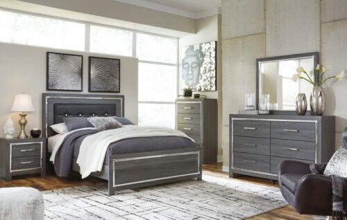 Ashley Furniture Lodanna LED Lighting Queen Panel 6 Piece Bedroom Set
