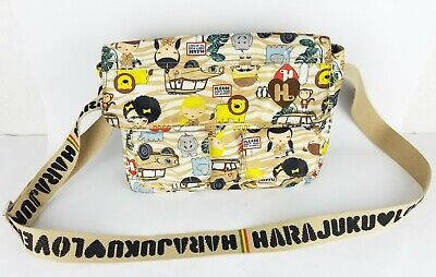 Harajuku Lovers Bags (HARAJUKU Animal Lovers Multi-Pocket Crossbody Shoulder Bag Safari)