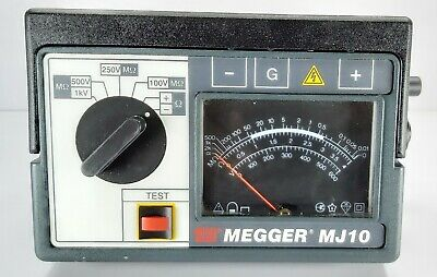 Megger Avo Mj10 Analogue Insulation Multi-voltage Continuity Tester Portable