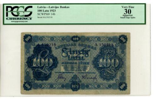 Latvia ... P-14b ... 100 Latu ... 1923 ... *VF+* ... PCGS 30