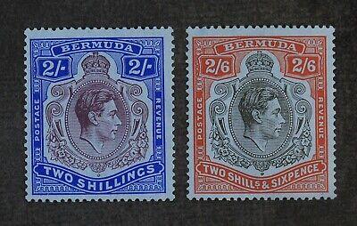 CKStamps: Bermuda Stamps Collection Scott#123 Mint NH OG #124 Mint H OG